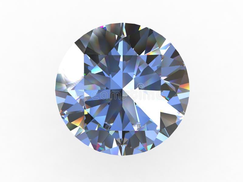 Runder Diamant-Stein lizenzfreie stockfotos