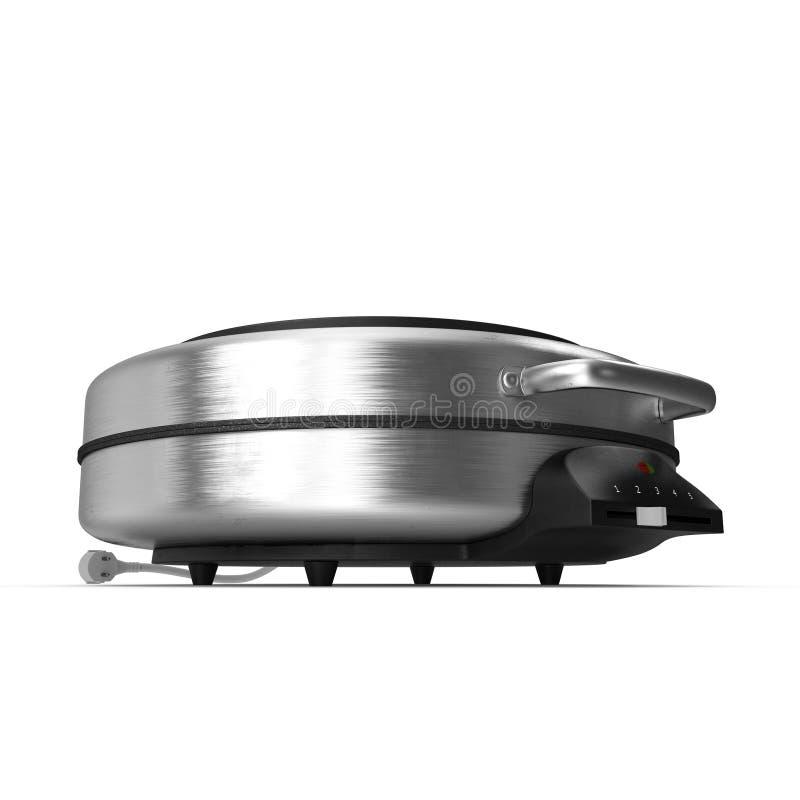 Runder elektrischer Waffel-Hersteller lokalisiert auf weißem Hintergrund Abbildung 3D vektor abbildung