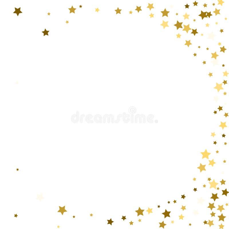 Runder Hintergrund des abstrakten Vektors mit Goldsternelementen Glitte lizenzfreie abbildung