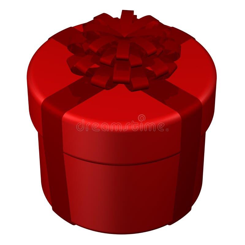 Runder Kasten, gebundenes Band mit einem Bogen Wiedergabe 3d lizenzfreie abbildung
