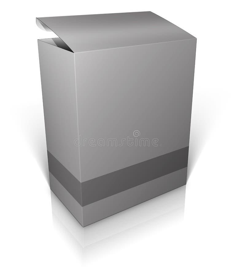 Runder Kasten. Software-Kasten stock abbildung