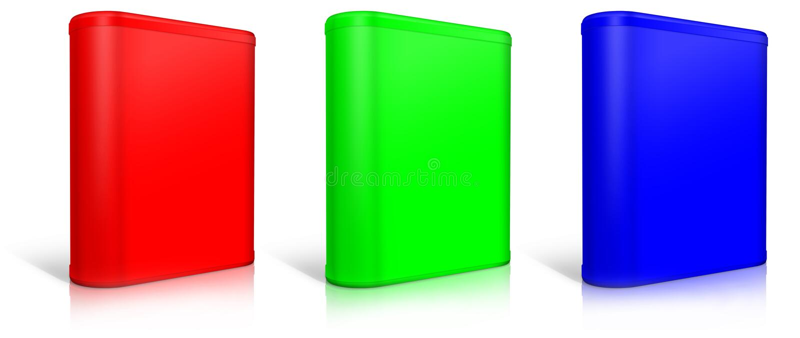 Runder Kasten Software-Kasten stock abbildung
