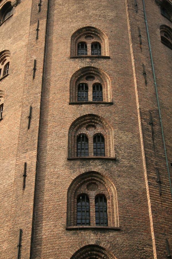 Runder Kontrollturm (Rundetarn) in Kopenhagen Dänemark stockfotos
