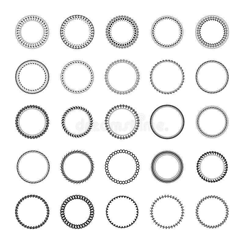 Runder Rahmen gemacht von den einfachen geometrischen Formen vektor abbildung