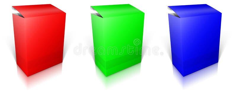 Runder RGB-Kasten Software-Kasten lizenzfreie abbildung
