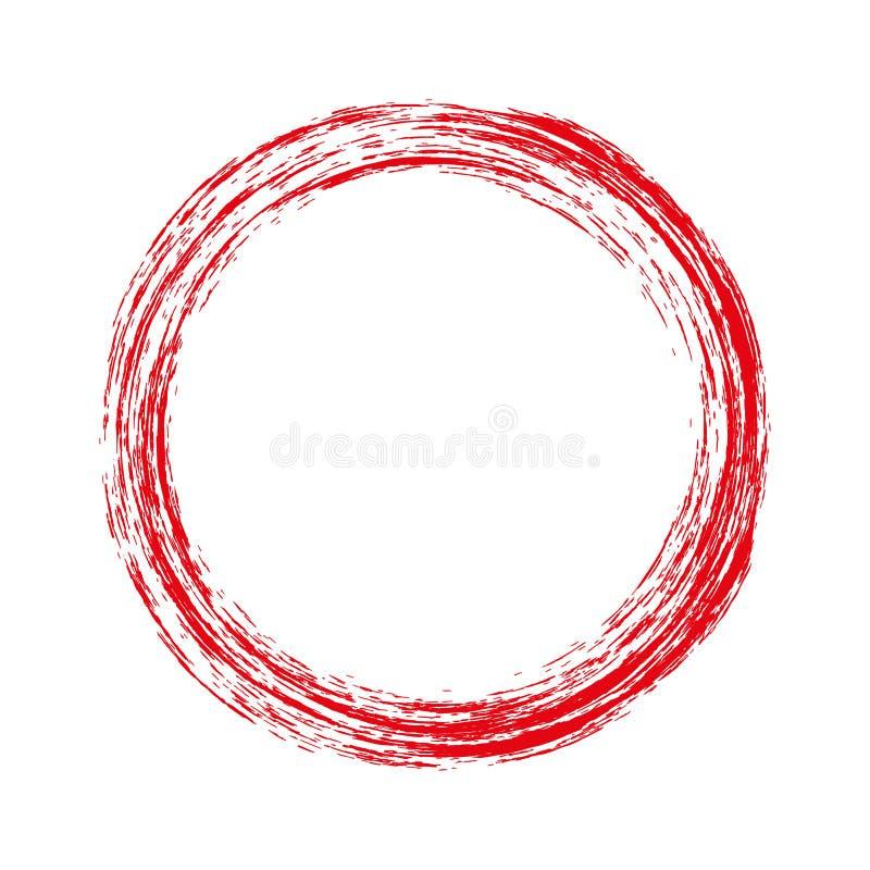Runder Roter Rahmen Mit Schmutz Auch Im Corel Abgehobenen Betrag ...