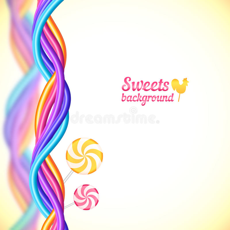 Runder Süßigkeitsregenbogen färbt Bonbonhintergrund vektor abbildung