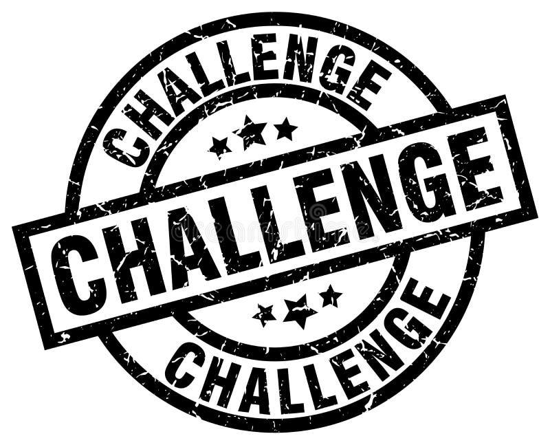 Runder Schmutzstempel der Herausforderung lizenzfreie abbildung