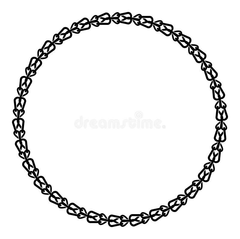 Runder Schwarzweiss-Rahmen mit keltischer Verzierung stock abbildung