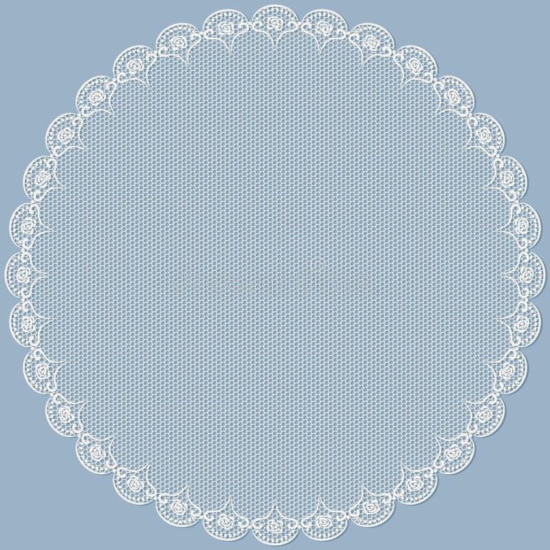 Runder Spitzen- Rahmen. vektor abbildung. Illustration von kreis ...