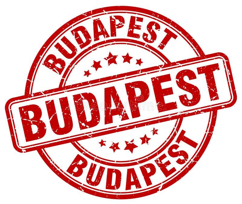 Runder Stempel roten Schmutzes Budapests lizenzfreie abbildung