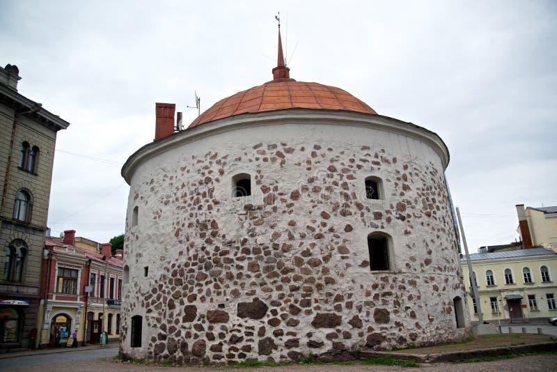 Runder Turm von Wyborg lizenzfreies stockbild