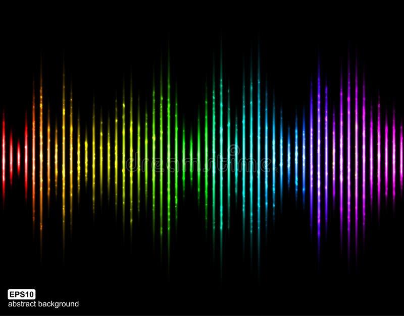 Runder Wellenformhintergrund der Musik Musik-Digital-Entzerrer lizenzfreie abbildung