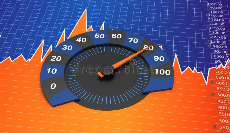 Rundes Diagramm vektor abbildung