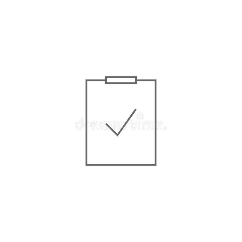 Rundes einfaches der flachen Ikone des Vektorkontrollprüfzeichens vektor abbildung