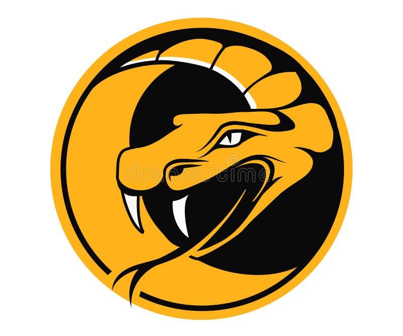 Rundes Emblem der Viper lizenzfreie abbildung