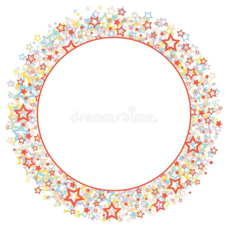 Rundes Feld mit Sternen stock abbildung