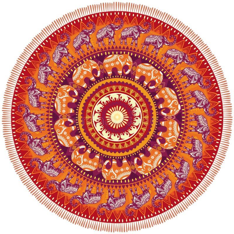 Rundes Muster mit Elefanten vektor abbildung