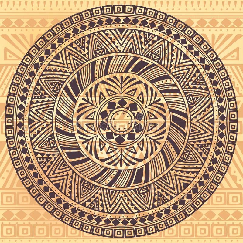 Rundes Muster mit ethnischen Elementen stock abbildung
