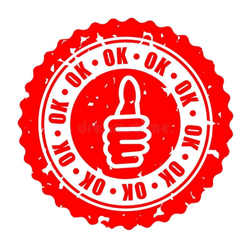 Rundes O.K. Stempel des Vektors stock abbildung