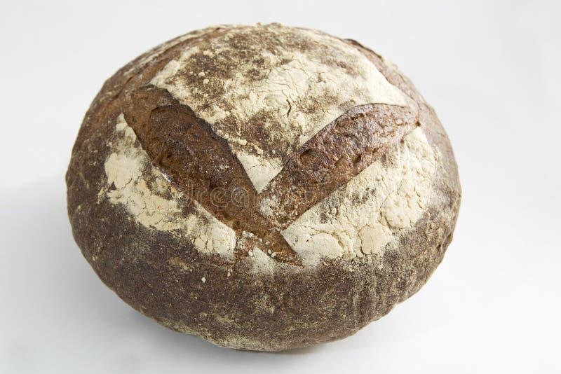 Rundes rustikales Brot-Laib lizenzfreies stockbild