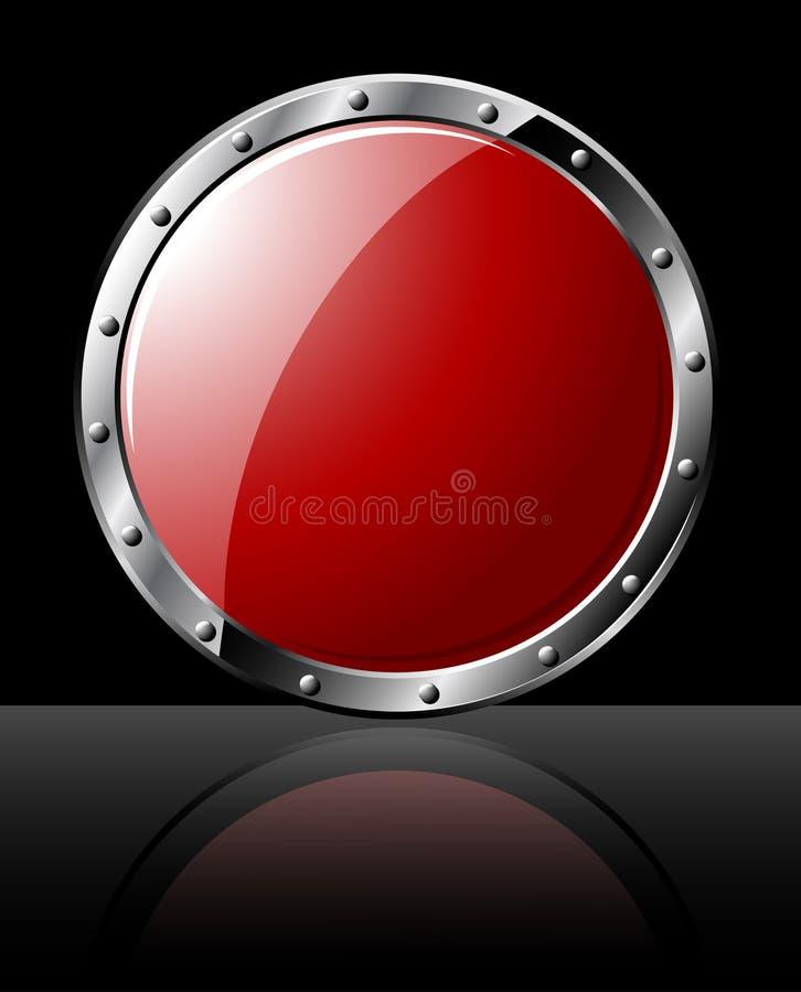 Rundes Stahlschild lizenzfreie abbildung