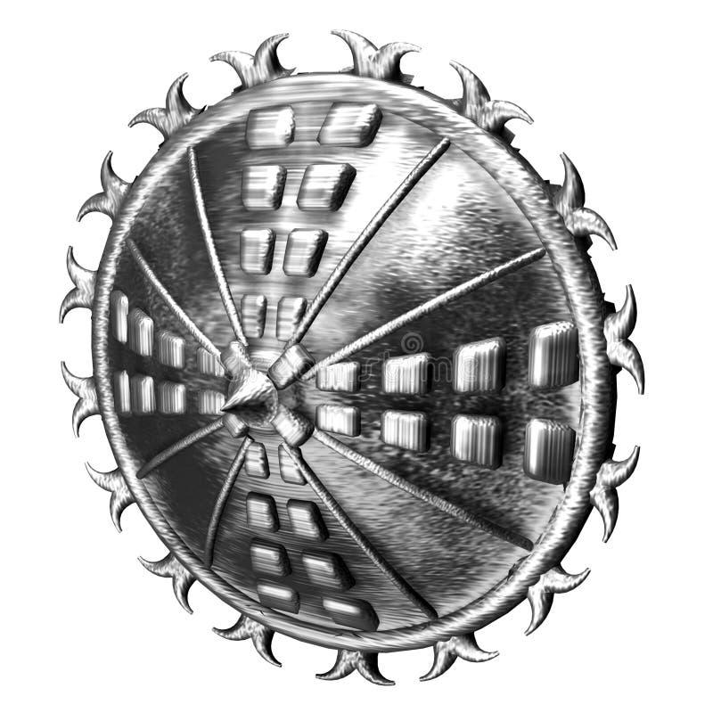 Rundes Stahlschild stock abbildung