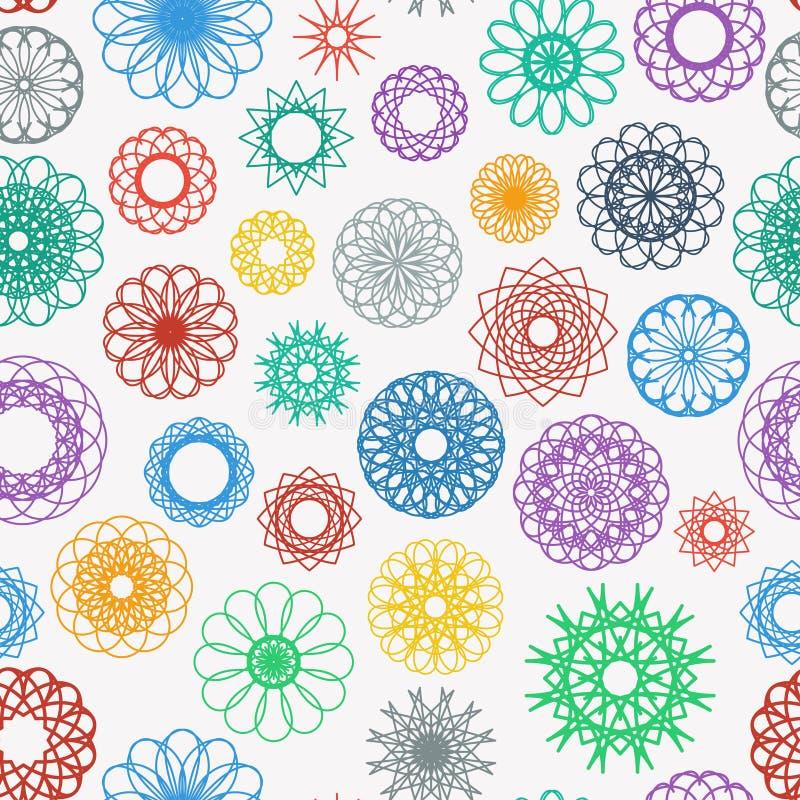 Rundes Verzierungs-Muster stock abbildung