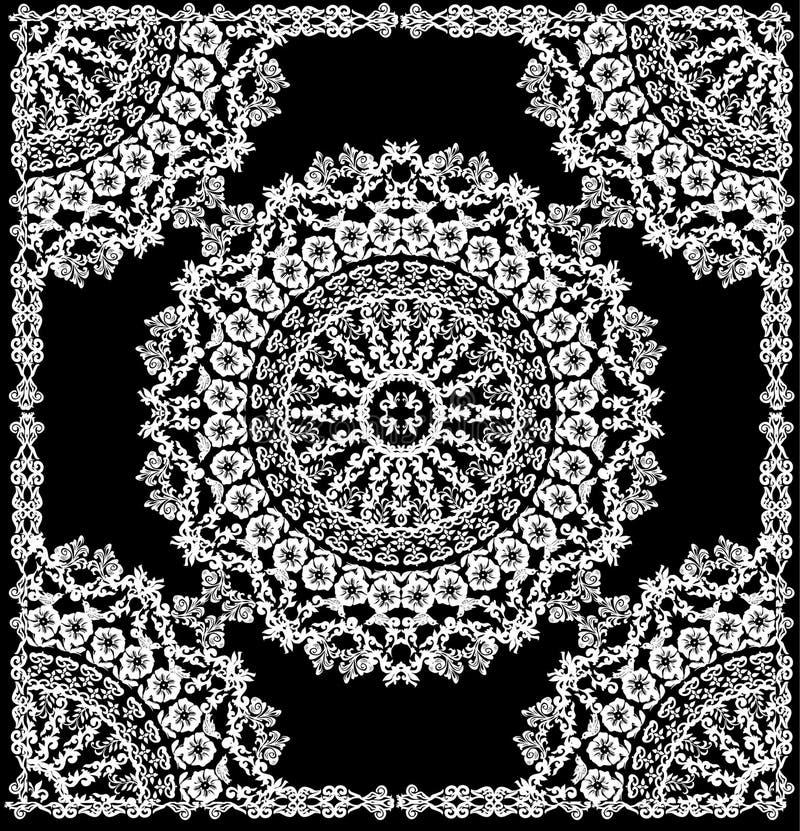 Rundes weißes Muster im Feld lizenzfreie abbildung