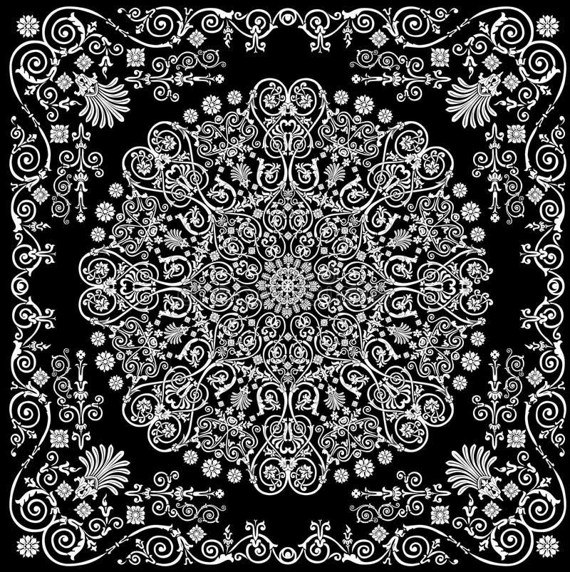 Rundes weißes Muster in konzipiertem Feld lizenzfreie abbildung