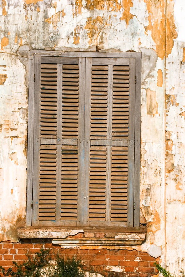 Download Rundown window stock image. Image of shutter, past, residential - 4132741