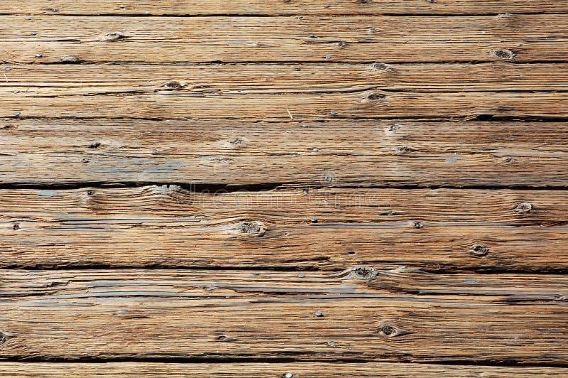 Rundown wooden floor stock photo