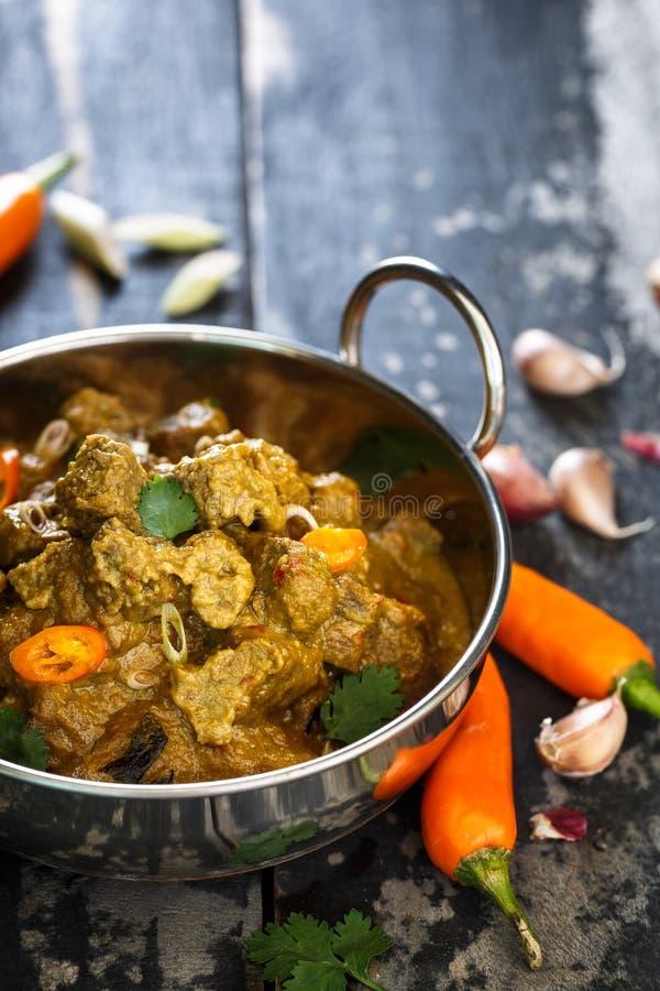 Rundvlees Rendang, een Indonesisch Voedsel stock afbeelding