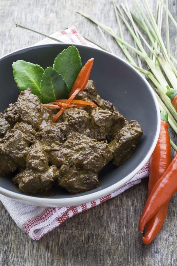 Rundvlees Rendang, Indonesisch voedsel stock afbeelding