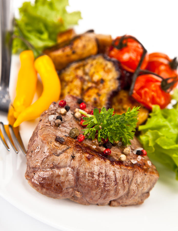 Rundvleeslapje vlees stock foto
