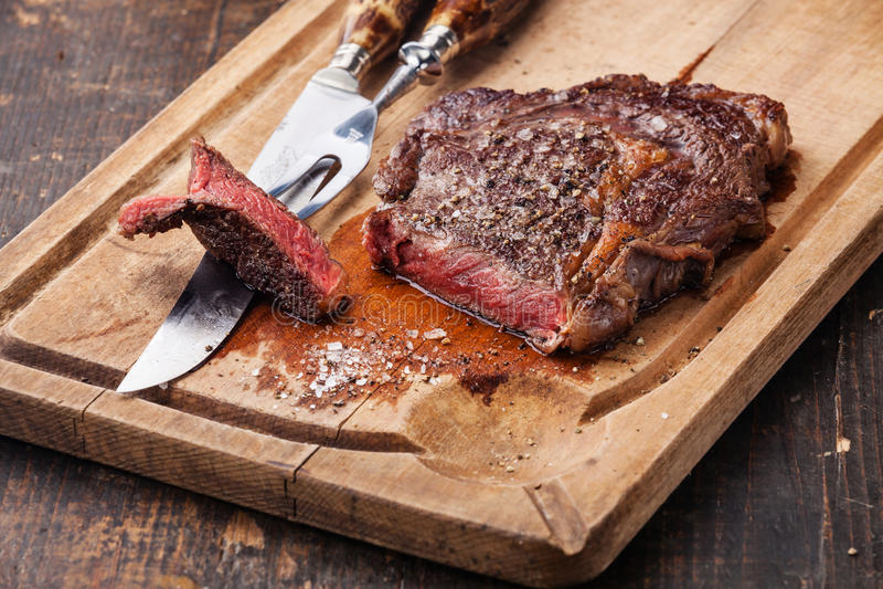 Rundvleeslapje vlees Ribeye royalty-vrije stock foto's