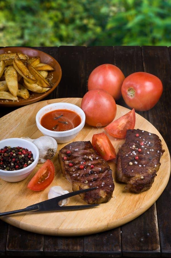 Rundvleeslapjes vlees royalty-vrije stock afbeelding