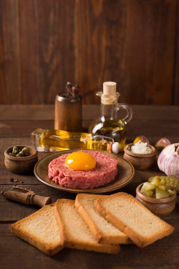 Rundvleestandsteen stock afbeelding