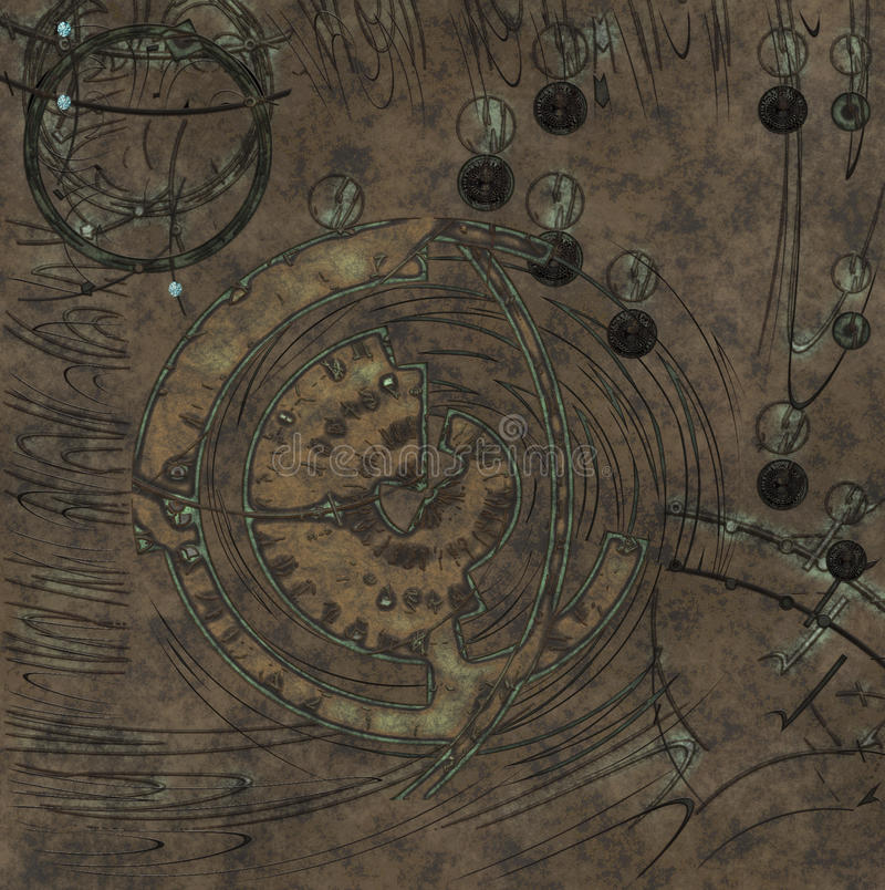 Rune background. Background with engraved runes on ancient stone vector illustration