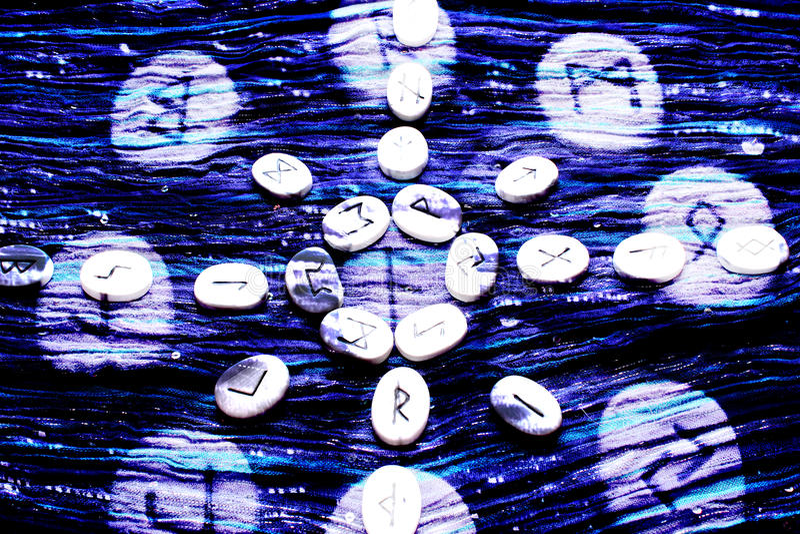 Rune Cast Blend And Blur stockfotografie
