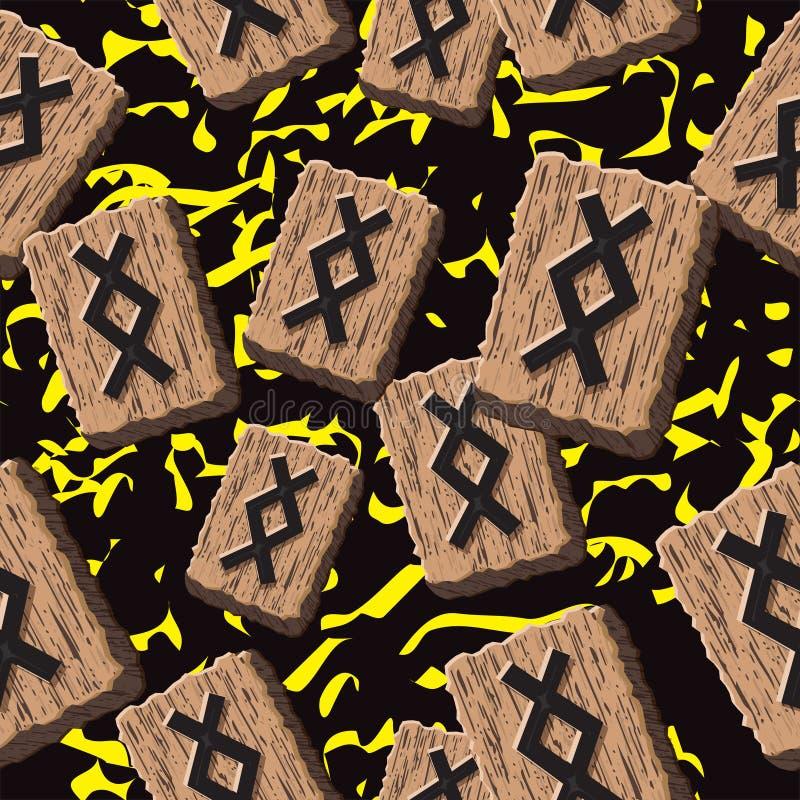Rune Inguz vector. Rune Inguz. Abstract vector background with Norwegian runes stock illustration