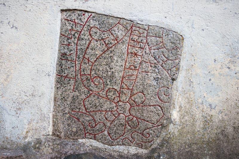 Rune kamień Szwecja zdjęcia stock