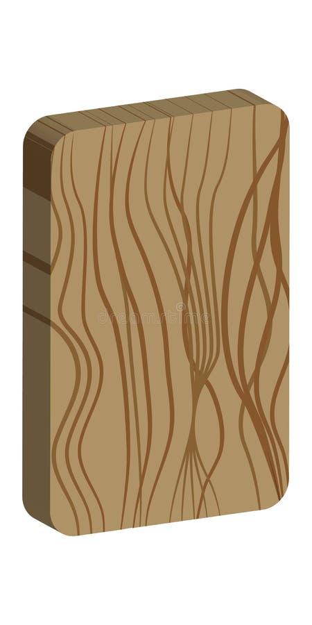 Rune Odin Runa vazia escandinavo Madeira ardente de imitação Textura de madeira ilustração royalty free