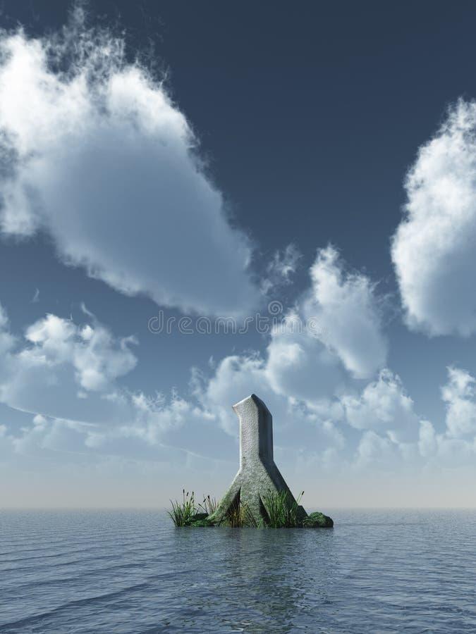 Download Rune rock stock illustration. Illustration of mystic - 10254450