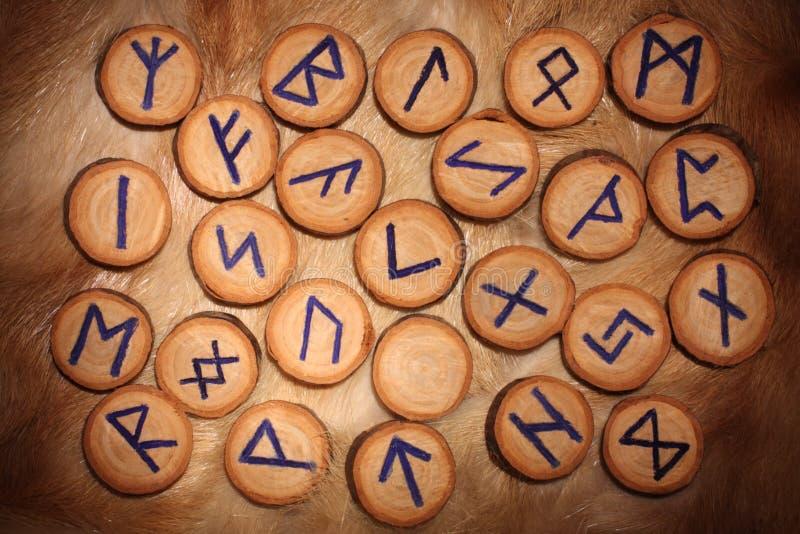 Rune set stock image