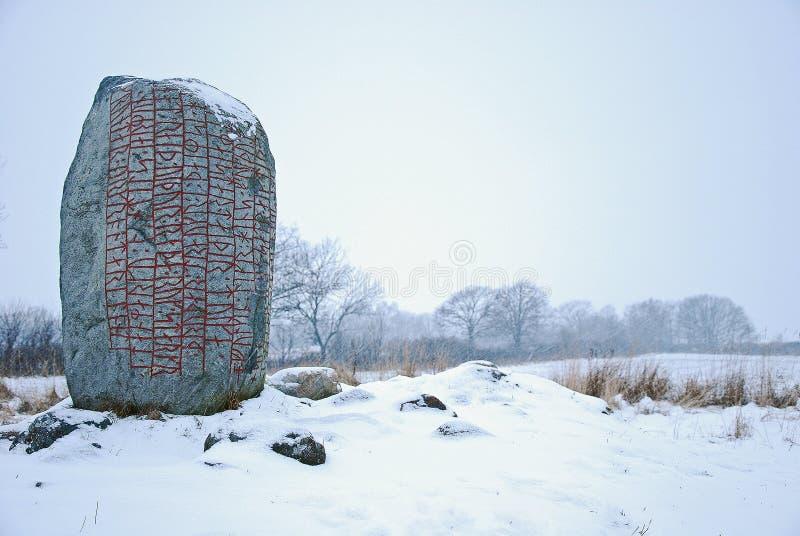 Rune-stenen stock afbeelding