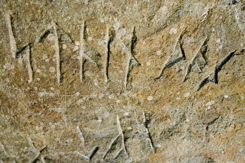 rune wpisowy Wiking zdjęcia royalty free