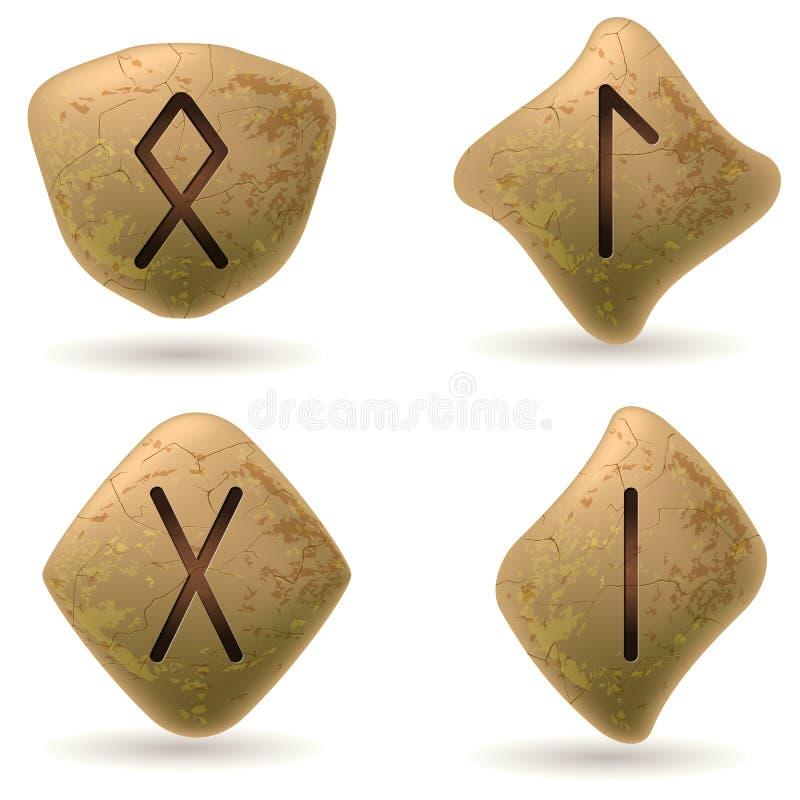 Runen stock illustratie