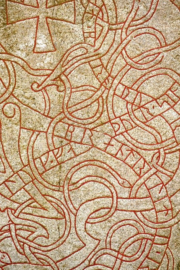Runen. Hintergrund stockfoto