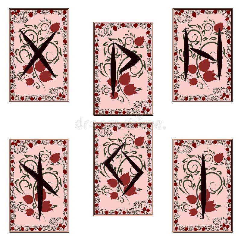 Runen- karakters Kleurendeel 2 royalty-vrije illustratie